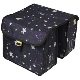 Basil Stardust Luggage Carrier Double Bag 20l Kids, nightshade